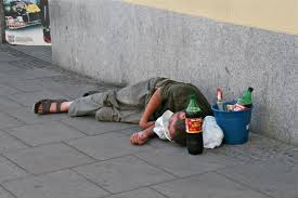 alcoholic on the street